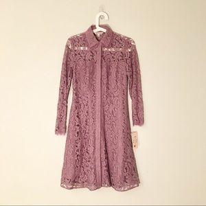 Nanette Lepore   Lace Button Front Shirt Dress 2